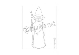 Colouring-in sheets - Linus the Magician
